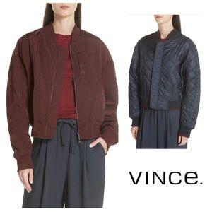 VINCE Jacket Reversible Bomber | Large